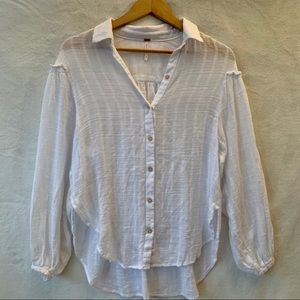 Free people button down floaty shirt